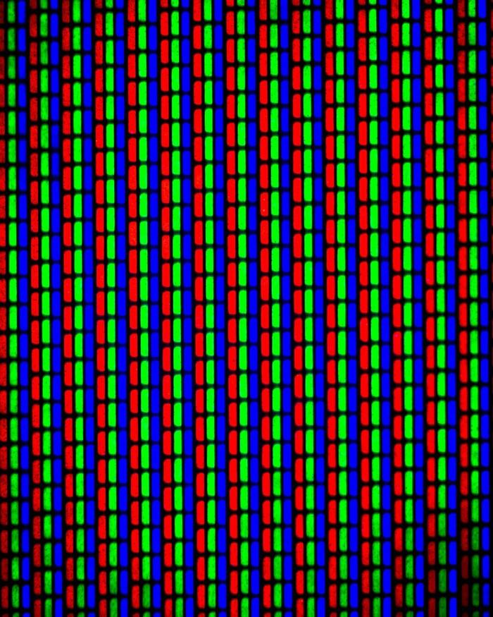 """Экран """"пузатого"""" телевизора Макро, Пиксель, RGB"""