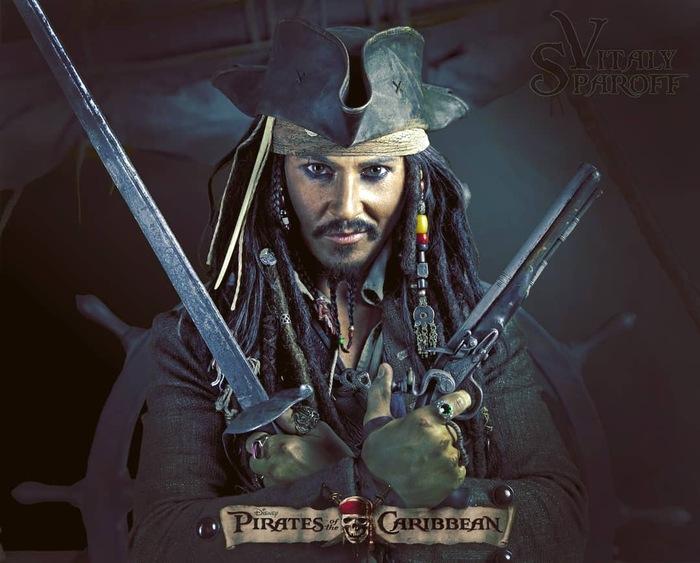 Jack Sparrow by Vitaly Sparoff Косплей, Капитан Джек Воробей, Пираты карибского моря, Captain Jack-Sparrow, Длиннопост