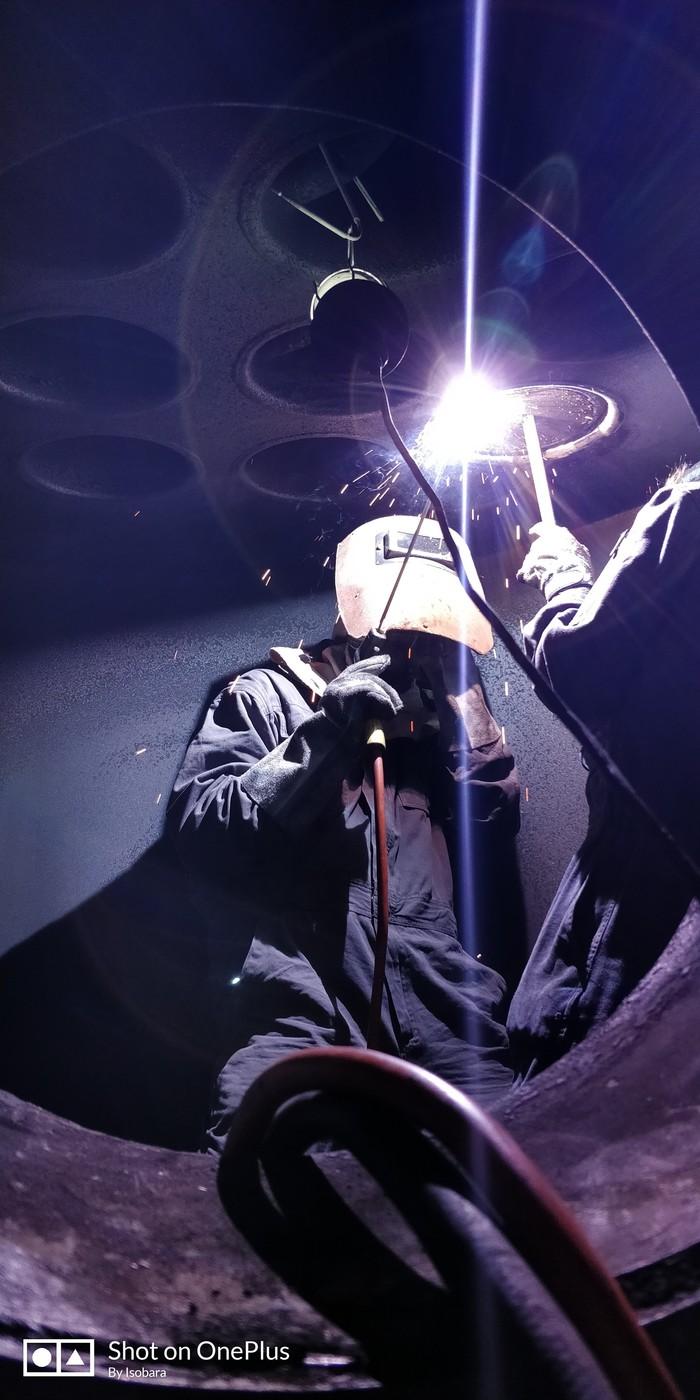 Composite boiler Aalborg Mission-OC, pin-tube repairing Котел, Сварка, Ремонт, Флот