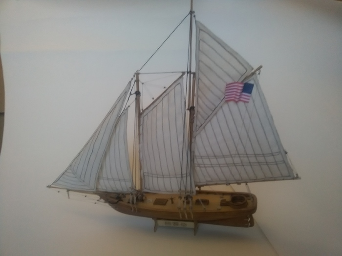 Яхта. Результат. Парусный флот, Стендовый моделизм, Масштабная модель, Модель корабля, Яхта, Длиннопост