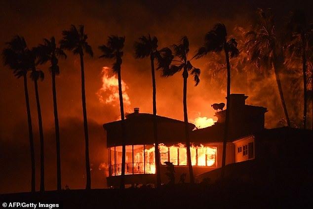 Ветер продолжает раздувать пожары в Калифорнии Пожар, Калифорния, Стихийное бедствие, Ветер, Огонь