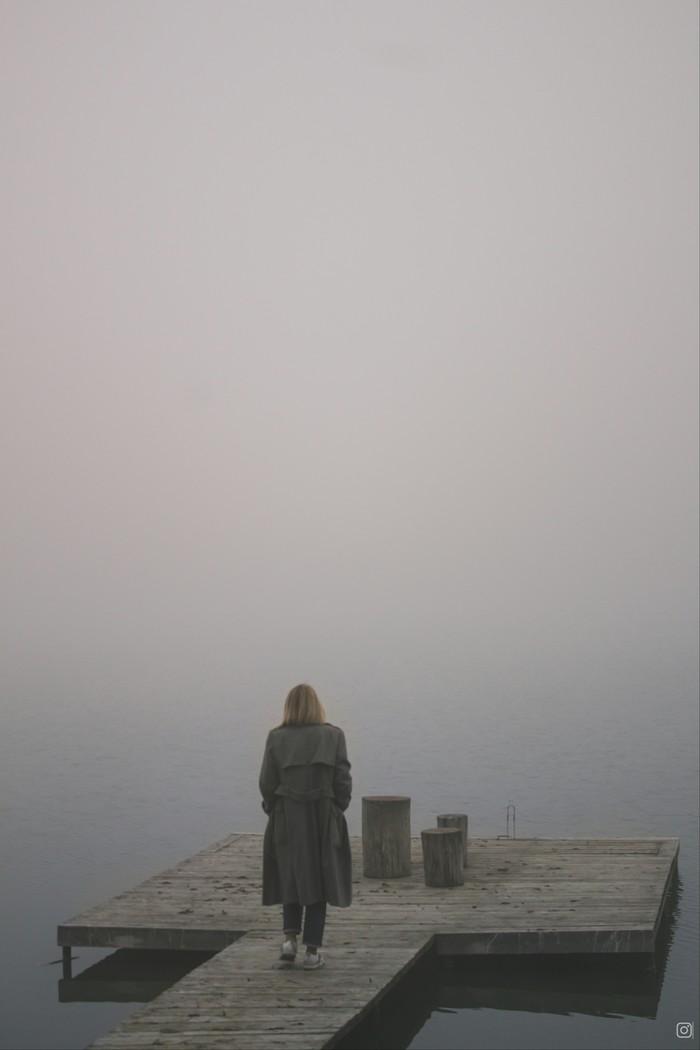Осенний туман Начинающий фотограф, Осень, Туман, Девушки, Озеро, Canon, Canon 1200d