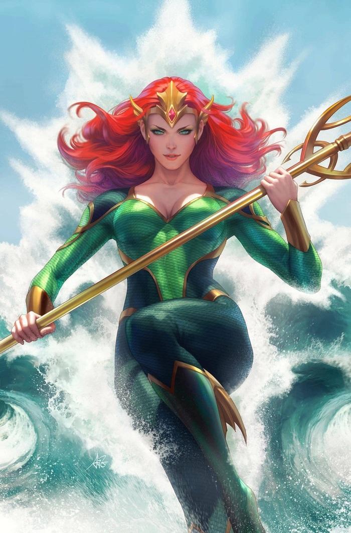 Обложки DC #1 Чудо-Женщина, DC Comics, Супергерл, Мера, Обложка, Длиннопост