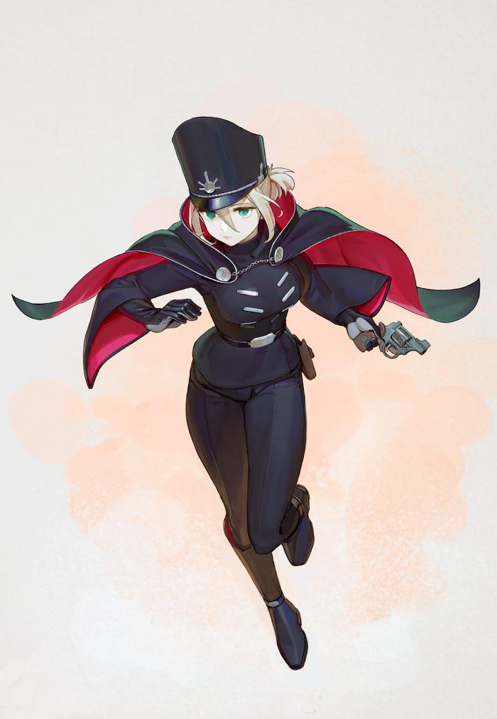 Police Anime Art, Полиция, Не аниме, Девушки, Dark skin, Длиннопост