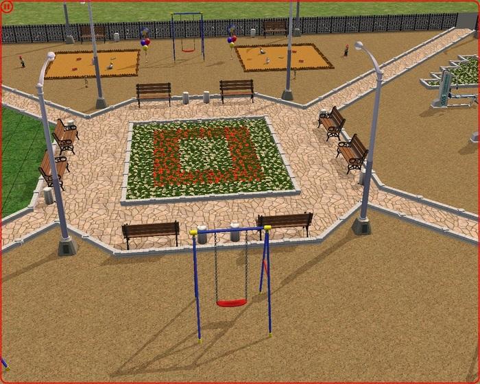 Власти одного из посёлков Ленинградской области опубликовали дизайн-проекты дворов, сделанные в игре Sims 2 Sokolovsky!, Благоустройство, The sims, Макет, Новости, Длиннопост, Чиновники
