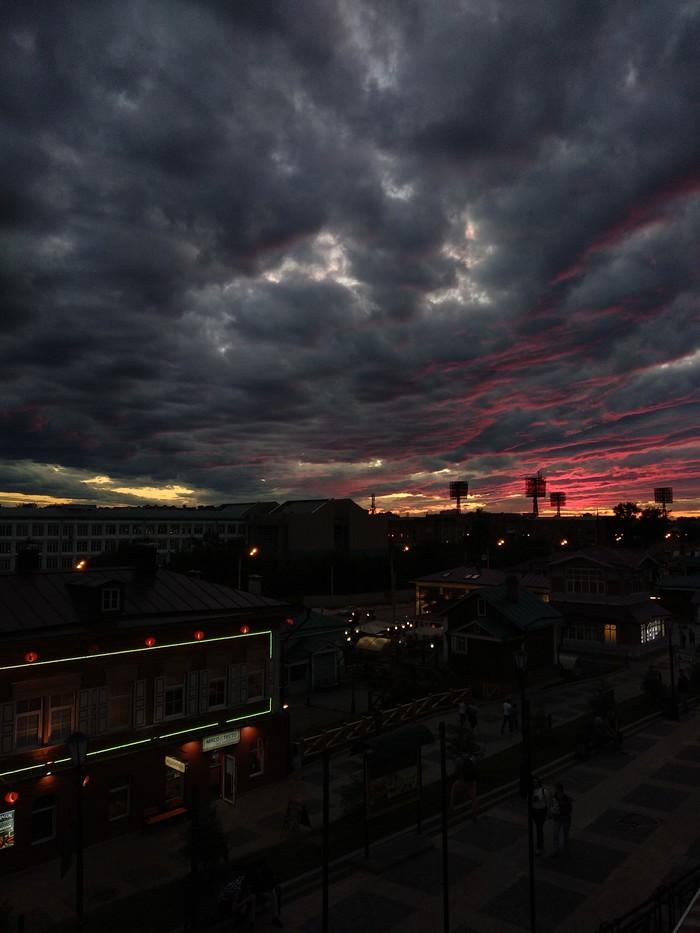 Закат Начинающий фотограф, Закат, Вечер, Облака, Мобильная фотография