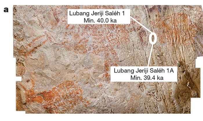 На стене индонезийской пещеры обнаружено самое древнее изображение животного Наука, История, Датировка, Искусство, Палеолит, Копипаста, Elementyru, Длиннопост