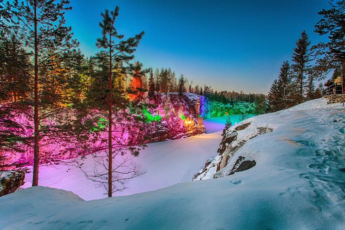 Зимняя Рускеала Рускеала, Карелия, Зима, Красота природы, Путешествия, Длиннопост