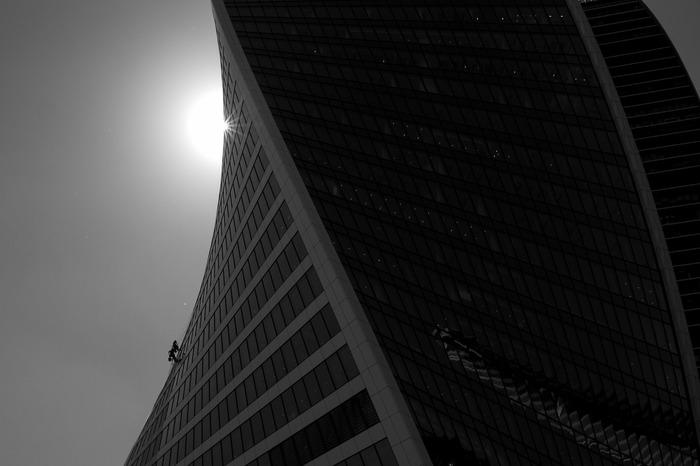 Высота Москва, Москва-Сити, Черно-Белое, Фотография, Минимализм