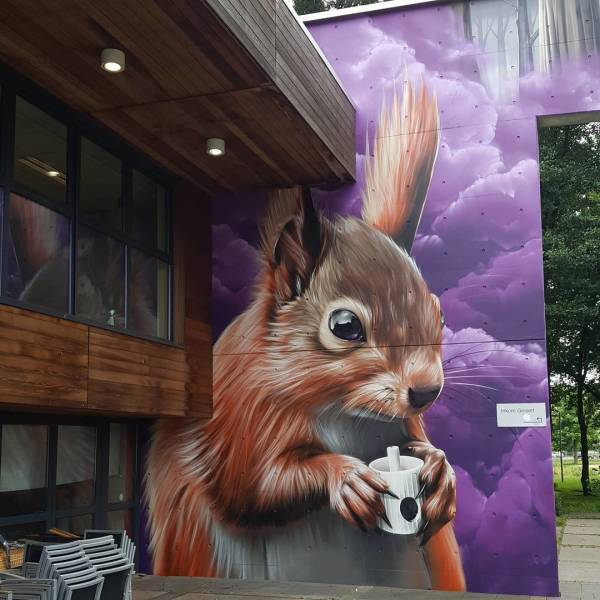 Впечатляющий стрит-арт Фотография, Стрит-Арт, Рисунок, Уличное, Краски, 3D рисунок, Длиннопост