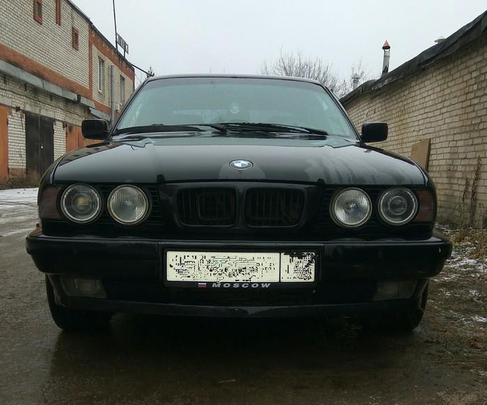 BMW E34 при свете дня и помытая BMW, BMW e34, Длиннопост