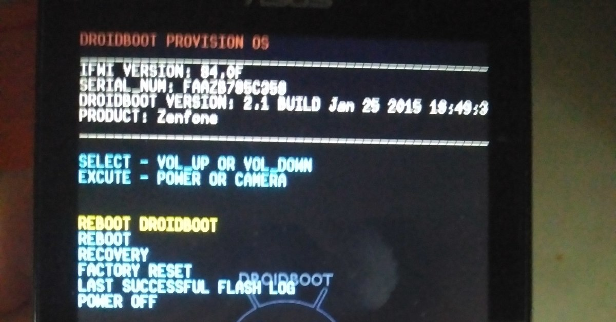 Asus Droidboot Recovery - Qibos