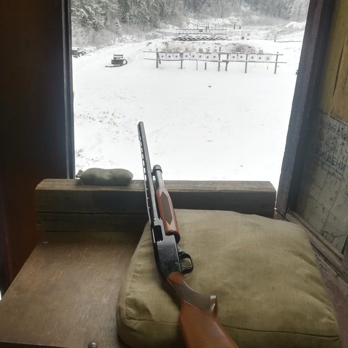 Обстрелял новую мушку на Winchester 1300 Ranger Оружие, Стендовая стрельба, Охота, Новинки, Дробовик, Отдых, Длиннопост