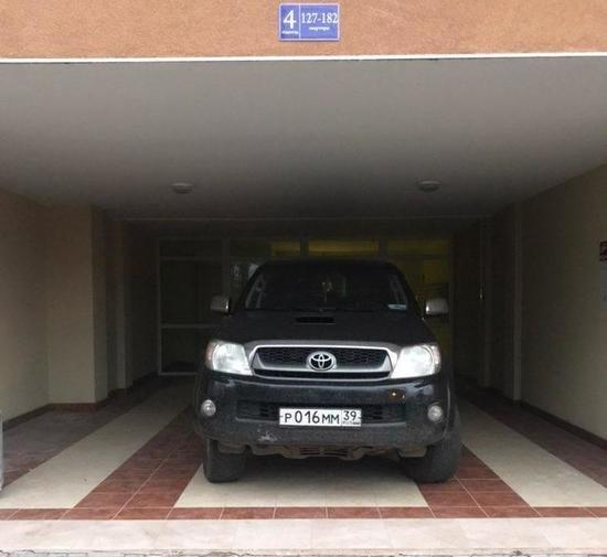 Парковка по-царски Машина, Парковка, Калининград, Автохам