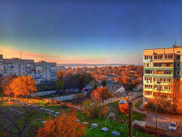 Последний тёплый день Осень, Фотография, Пейзаж, Закат, Фото на тапок