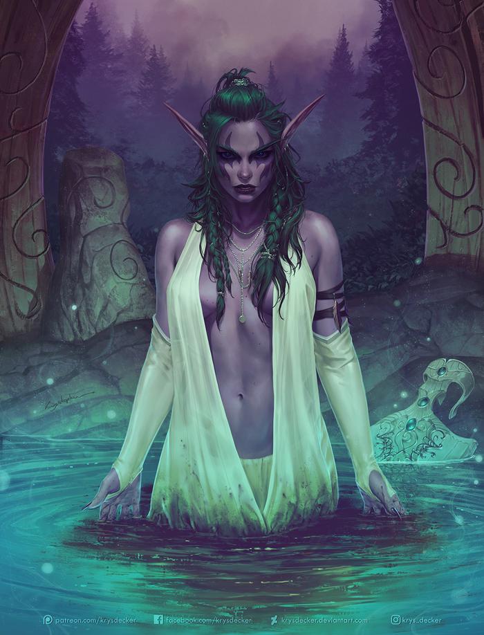The Night Warrior Арт, Warcraft, Krystopher Decker