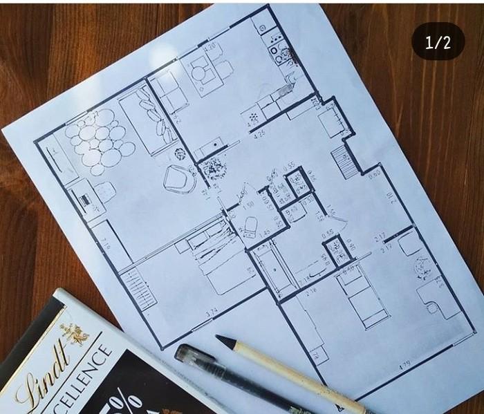 Квартира-мансарда. Пост 2. Планировка Ремонт, Мансарда, Длиннопост, Планировка, Своё жильё