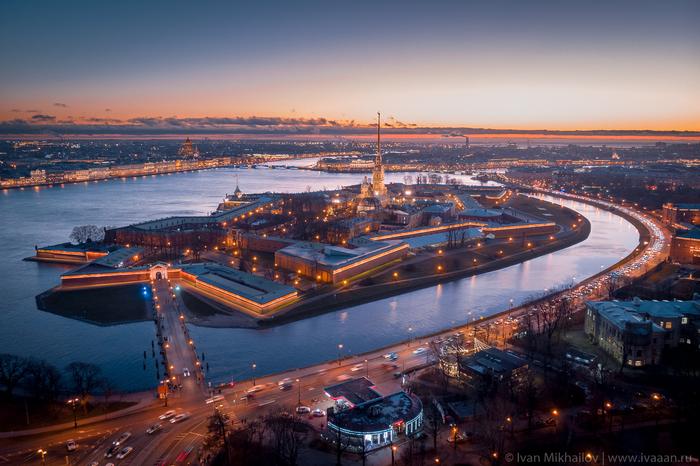 Поздняя осень в Петербурге Санкт-Петербург, Петропавловская крепость, DJI Mavic Air, Аэросъемка