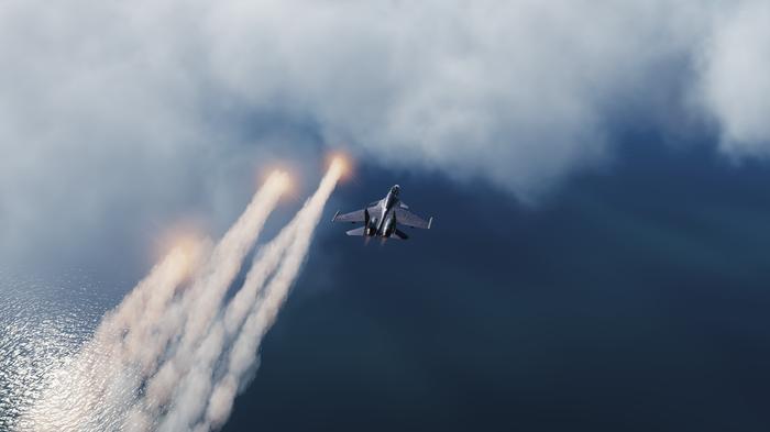 СУ-33 в чистом, бесконечном небе DCS, Су-33, НЕБО, Скриншот