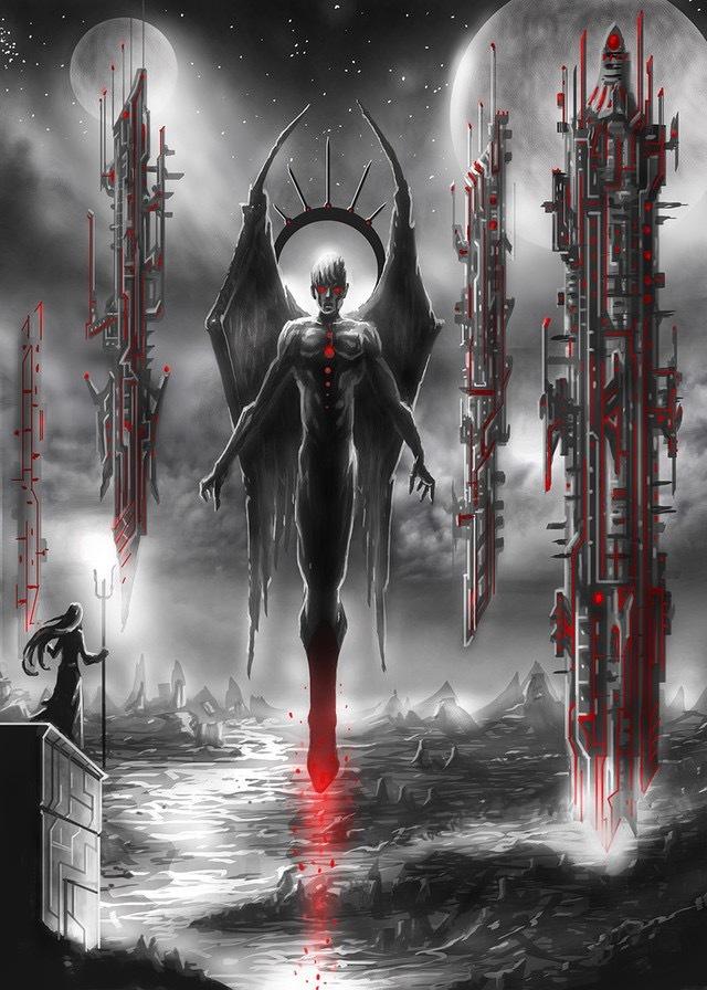 Подборка «тёмного» арта Картинки, Арт, Мрачное, Жуть, Темное фэнтези, Длиннопост