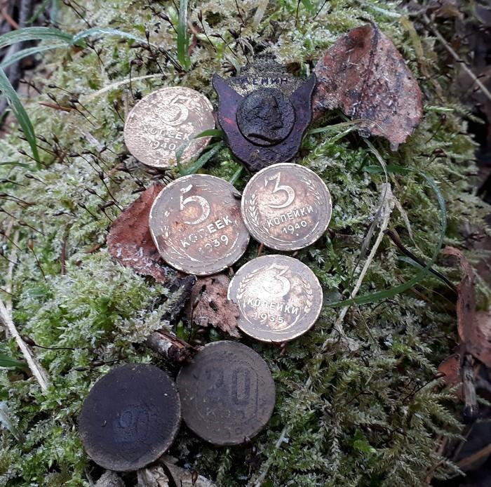 Сходил в лес неожиданно пошел снег !!! Но находки подогрели . Находка, Монета, Кладоискатель, Нумизматика, Длиннопост