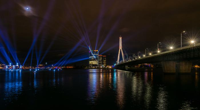 Ночная Рига Рига, Латвия, Начинающий фотограф, Ночной город