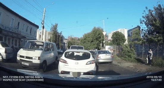 Неудачное приземление #2 ДТП, Курск, Пешеход, Приземление, Переход, Гифка, Видео