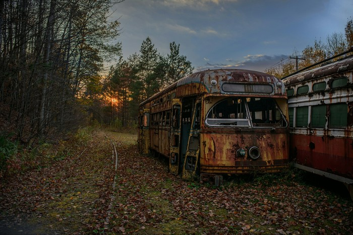 Заброшенная железнодорожная, и не только, Америка Заброшенное, Железная Дорога, Троллейбус, США, Америка, Филадельфия, Длиннопост