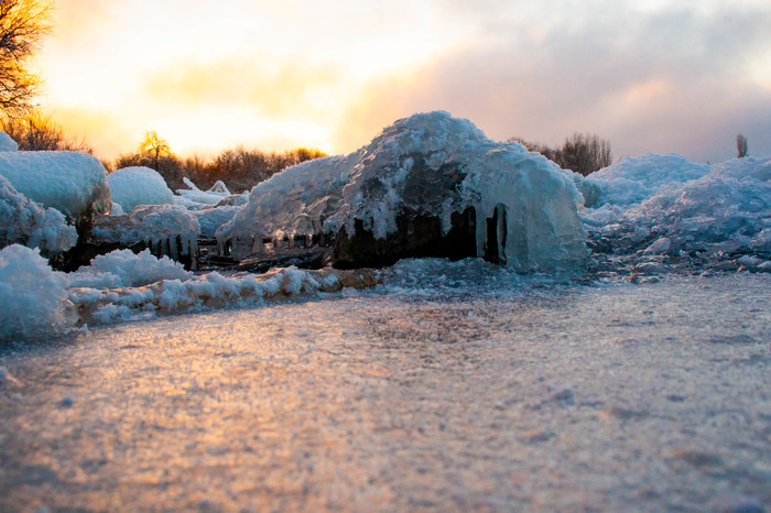 Зимушка Волга, Начинающий фотограф, Хочу критики, Лёд, Зима, Длиннопост, Фотография
