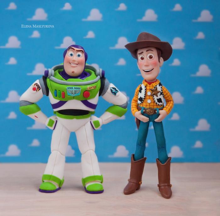"""Мои Базз Лайтер и Вуди из """"Истории игрушек"""". История игрушек, Полимерная глина, Базз лайтер и Вуди, Buzz and Woody, Фигурки из глины, Персонажи, Длиннопост"""