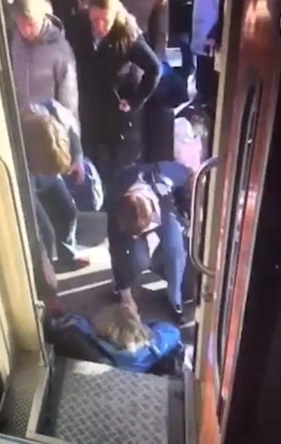 РЖД оплатили лечение пассажирке, упавшей с трапа на Московском вокзале Картинка с текстом, Ржд, Чрезвычайная ситуация