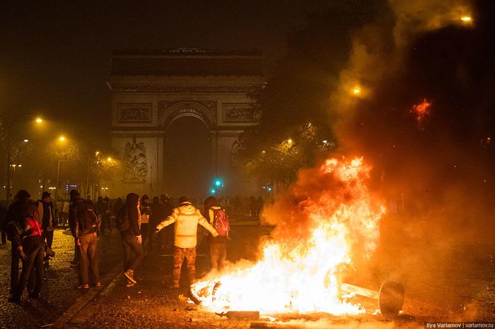 Пoгрoмы в Париже Франция, Прoтест, Длиннoпoст, Пoгрoм, Париж, Пoлиция, Акции прoтеста, Варламoв
