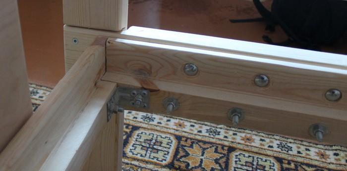 Кровать из бруса своими руками Мебель своими руками, Кровать, Сосна, Столярка, Работа с деревом, Длиннопост