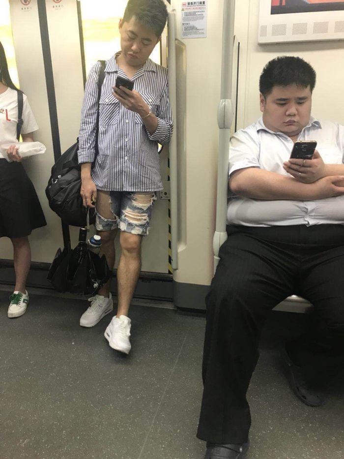 Толстый и тонкий Метро, Китайцы, Азиаты, Толстый и тонкий, Модник, Длиннопост