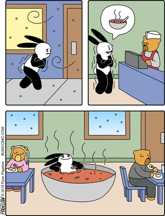 Тарелка горячего супчика