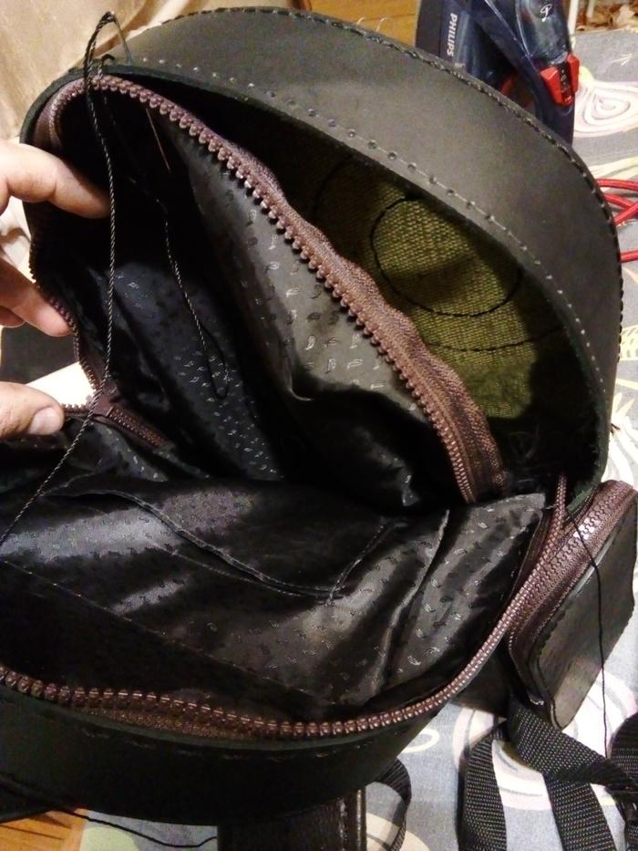 """Рюкзак """"Сова"""" Рюкзак, Кожа натуральная, Хобби, Рукоделие с процессом, Ручное шитье, Длиннопост, Своими руками"""