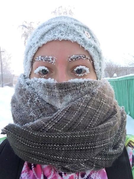 Сибирские морозы передают всем привет.