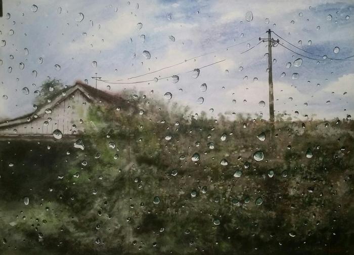 Соседний дом (2018) Акварель, бумага 60х84см
