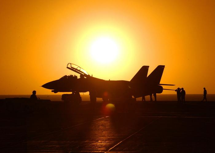 Солнце и F-14 f-14, Ту-95мс, Перехват, Авиация, Длиннопост, Фотография
