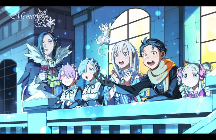 Re: zero Re:Zero kara, Anime Art, Аниме, Арт, Ram, Rem Re:Zero, Emilia, Beatrice