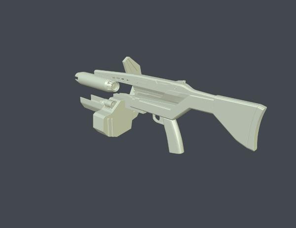 Модель AR2 для фанатского спин-оффа по вселенной Half-Life Gamedev, Half-Life, Игры, IndieDev, Инди игра, 3D модель, Гифка, Длиннопост