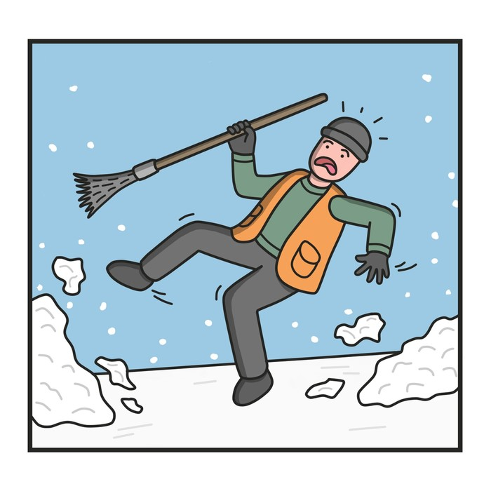 Дворник Снег, Зима, Уборщик, Юмор, Смешное, Длиннопост, Комиксы