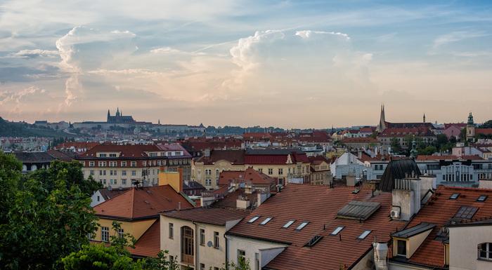 Крыши Праги, просто заметочка Архитектура, Фотография, Прага, Чехия, Крыша, Nikon, DSLR