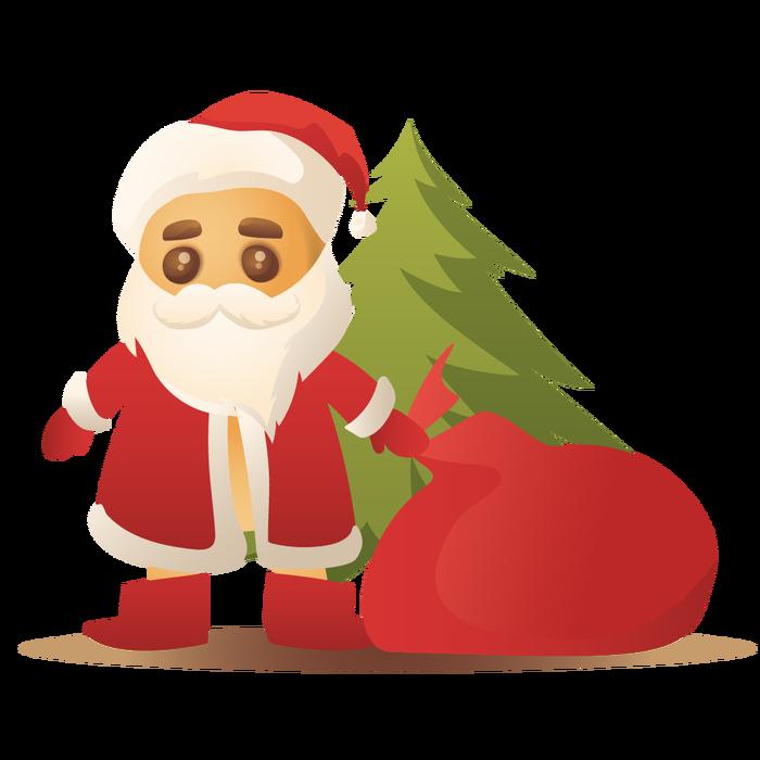 Печенька Дед мороз