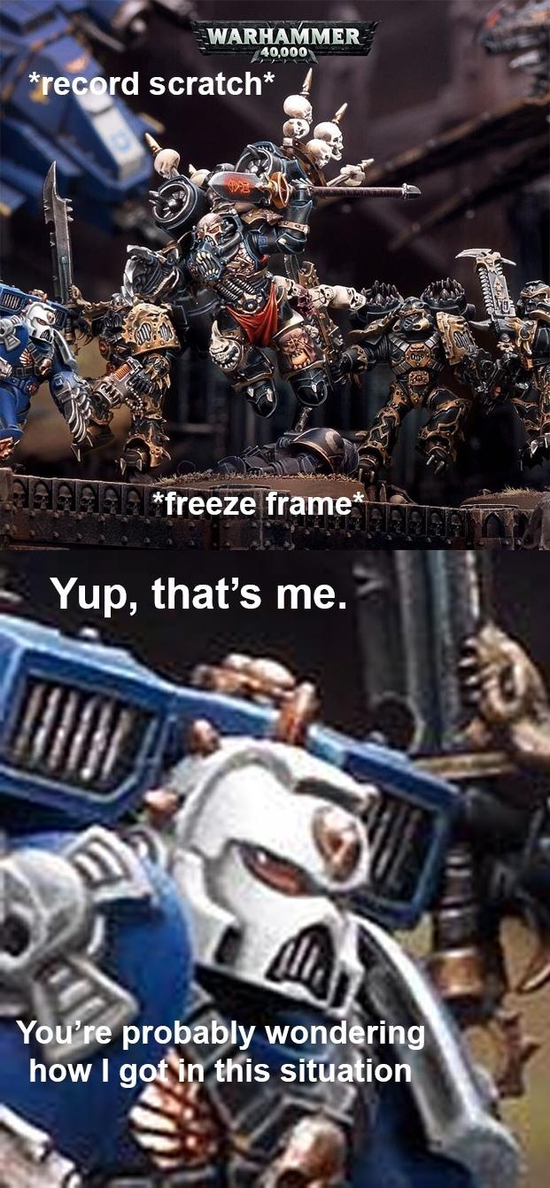 Стоп кадр Warhammer 40k, Ultramarines, Black Legion, Wh miniatures, Wh humor