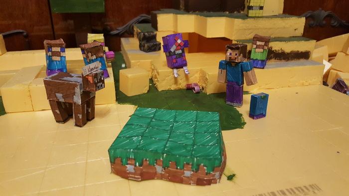 Майнкрафт моего племянника. Minecraft, Игры, Моделизм, Своими руками, Творчество, Воспитание, Без компьютера, Длиннопост