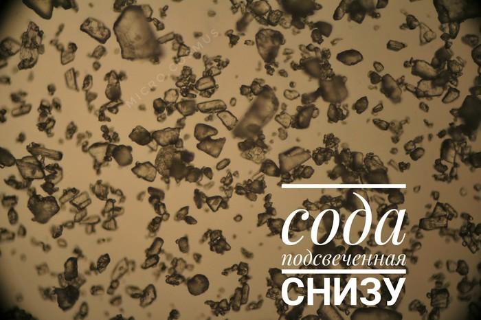 Под микроскопом сахар, соль и сода Длиннопост, Подмикроскопом, Микроскоп, Микроскопия, Микросъёмка, Соль, Сахар, Сода