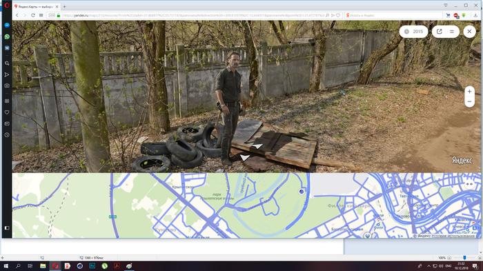Рик Граймс на задворках Москвы на яндекс панорамах Рик Граймс, Ходячии мертвецы, Актеры, Яндекс панорамы, Яндекс карты
