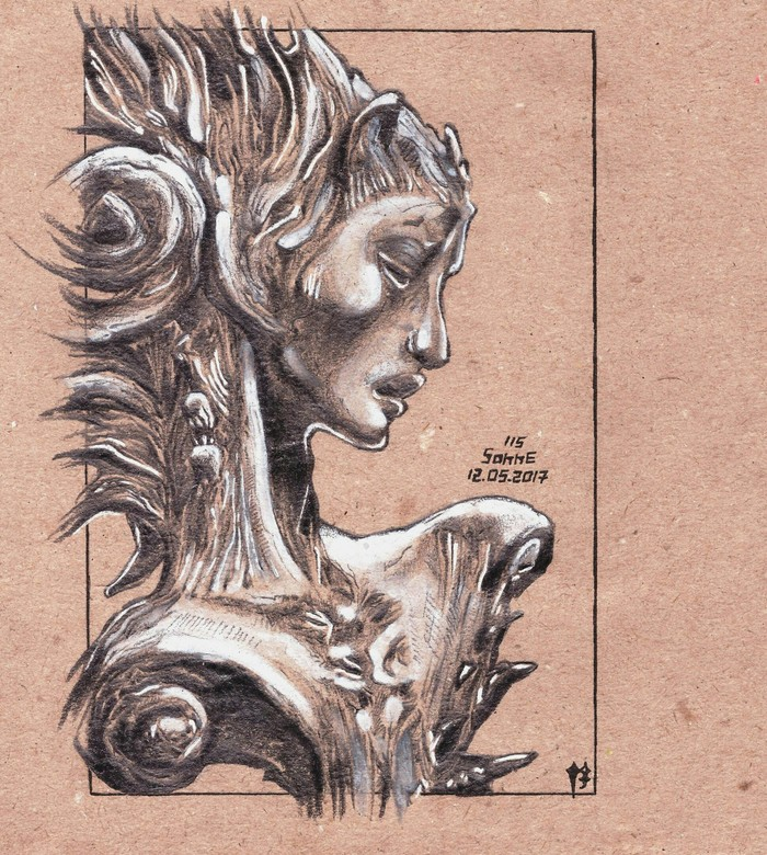 Golden mean Рисунок карандашом, Рисунок на бумаге, Творчество, Рисунок, Скульптура