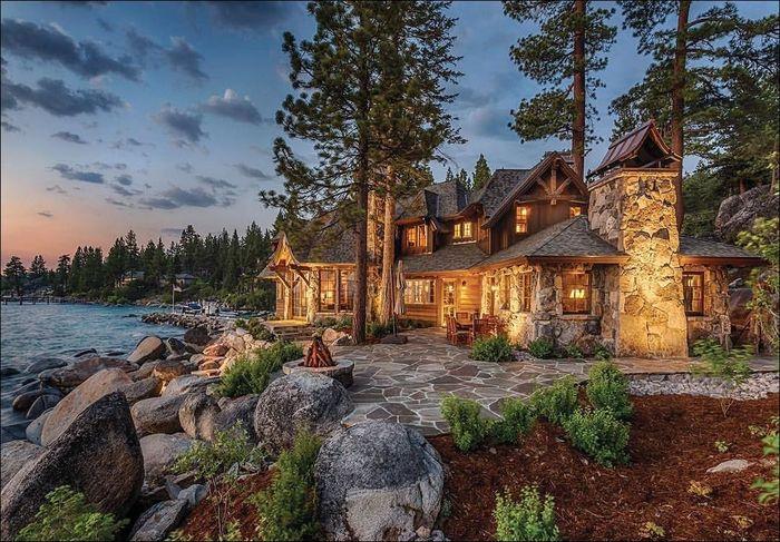 Дом мечты Дом у озера, Архитектура, Красота, Фотография